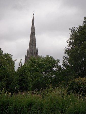 Σόλσμπερι, UK: Unique view of Salisbury Cathedral