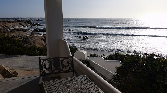 Paternoster, South Africa: Sea right outside our window from our personal patio.