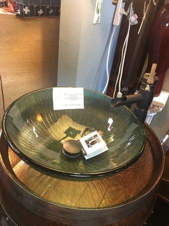 Wine Barrel Custom Bathroom Vanity Picture Of The Painted Peacock Auburn Tripadvisor