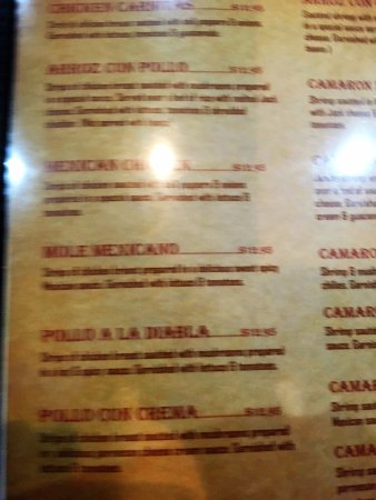 Verdi, NV: Menu