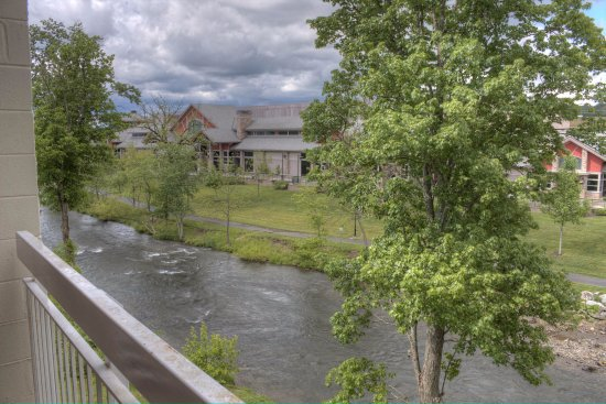 Bear Crossing Condominiums: Little Pigeon River that flows behind our Condominiums
