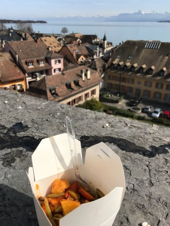 take away from Falaque and eating at the Nyon castle!