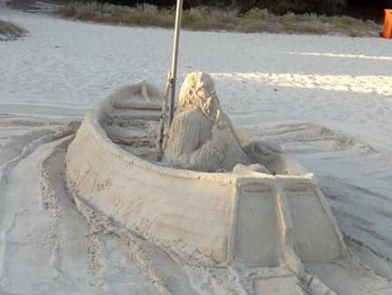 sand sculpture by local man picture of playa de binibeca nou sant