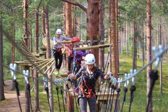 Vuokatti, Suomi: Oletko valmis uuteen seikkailuun? 9 eri kiipeilyrataa tarjoavat haastetta koko perheelle!
