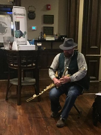 Covington, GA: Rusty Tate, a special Irish musician, playing in the Pub
