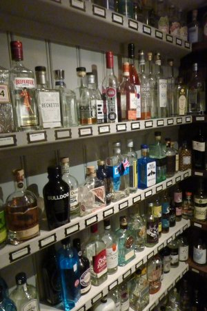 The Cotswold Plough Hotel & Restaurant: One third of the Gin Pantry