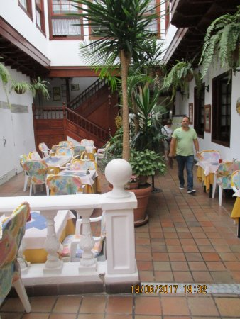 The internal area of La Casona