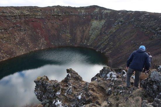 Selfoss, Islandia: Kraterabstieg