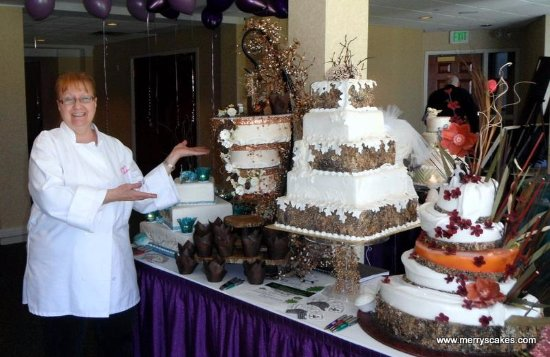 Rustic Wedding Cake Display From Merry S Picture Of Merry S