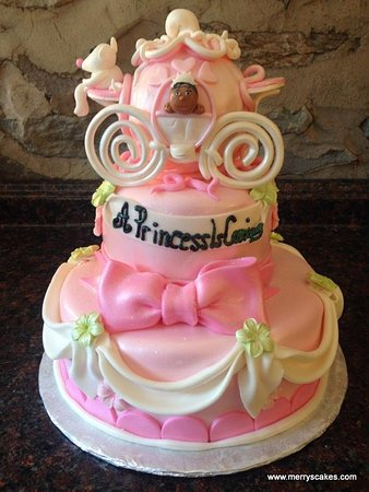 Cinderella Baby Shower Cake Picture Of Merrys Custom Cakes