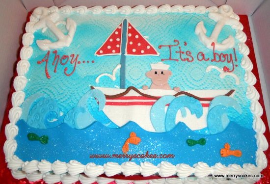 Ahoy It S A Boy Baby Shower Cake Picture Of Merry S Custom Cakes Bakery Design Studio Stroudsburg Tripadvisor