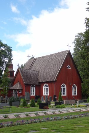 Lohja, Finland: Sammatti Church seen from the cemerery side