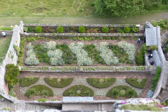 Marazion, UK: Walled garden from above