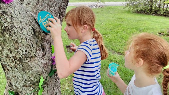 Lindsay, Canadá: Discovering the fairy garden that has appeared in the yard...