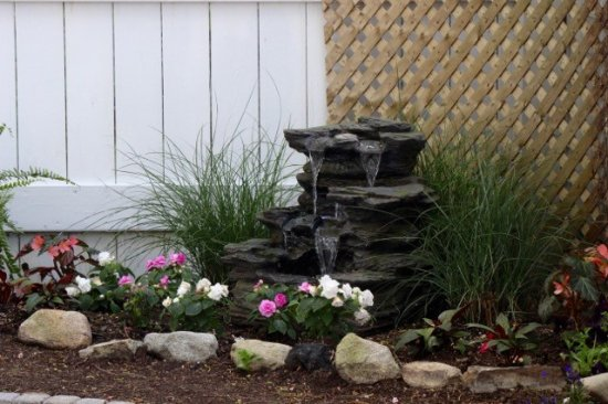 Westford, MA: Enjoy our fountain contributing its soothing sounds to the Secret Garden