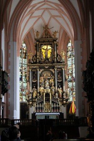 Mondsee, Austria: Inside of the church