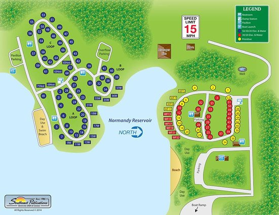 Normandy, TN: Campground Map