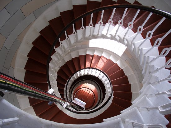 Anstruther, UK: Staircase in the LIGHTHOUSE on Isle of May