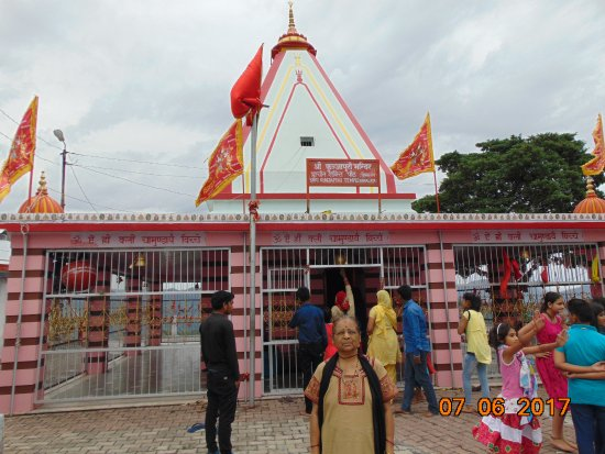 Kunjapuri Devi Temple: The view of the temple.