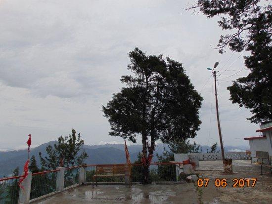 Kunjapuri Devi Temple: The peaks far off.
