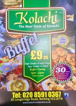Barking, UK: Kolachi Restaurant is All-you-can-eat Pakistani Buffet Restaurant with Lowest Buffet Price in To
