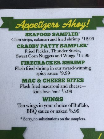 Havelock, NC: Portions of the menu