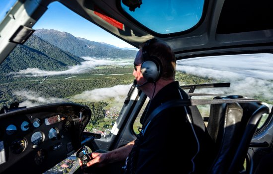 Mountain Helicopters: Flight to Fox Glazier on Mountain Helicopter