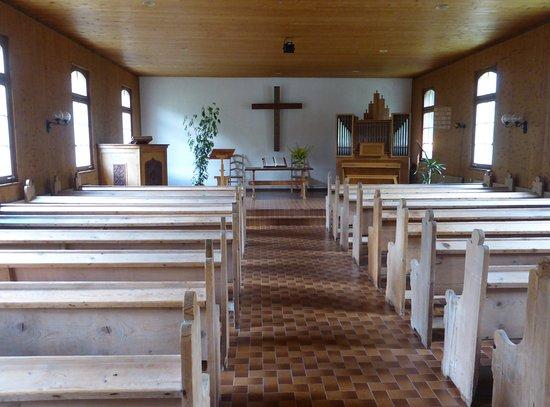 """Les Diablerets, Svizzera: In der reformierten Kirche:""""Chapelle des Diablerets"""""""