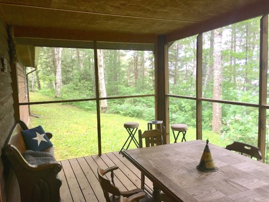 Lac du Flambeau, WI: The Marq Screen Porch