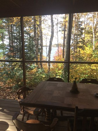 Lac du Flambeau, WI: Autumn view from The Marq