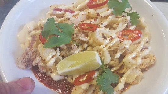 Montpelier, VT: Fried Squid Veracruz