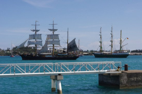 Tall ships in St. George harbor