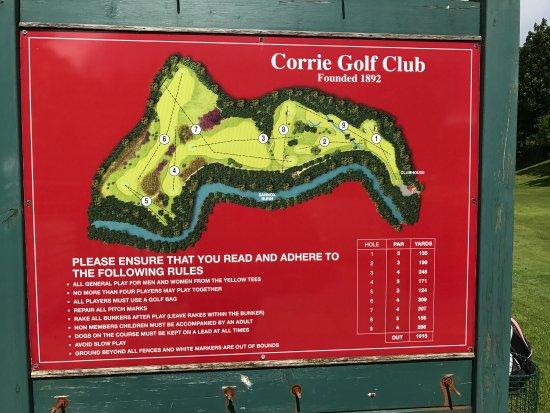 Corrie, UK: A fabulous 9 hole course!