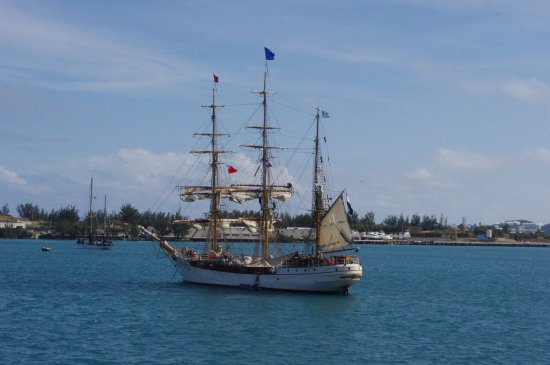 Tall ship, St. George harbor.