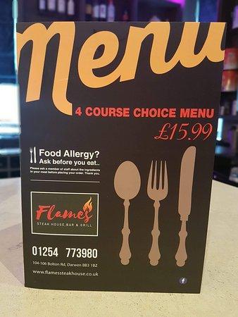 Darwen, UK: Flames Steakhouse