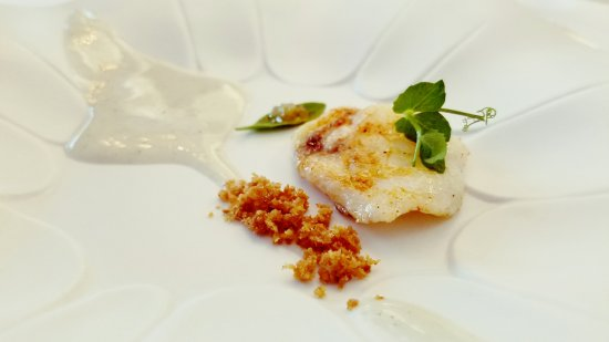 El Club Allard: monkfish cheek with blinis and creamy lima keffir