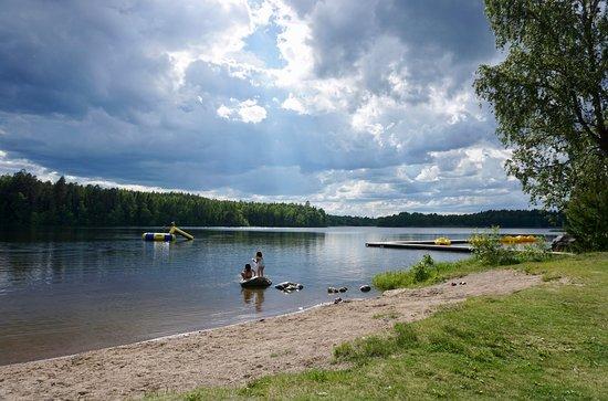Uppsala, Zweden: Der Strand