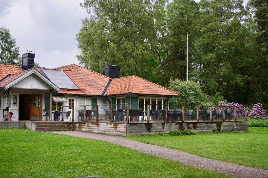 Uppsala, Sweden: Das Cafe von Außen