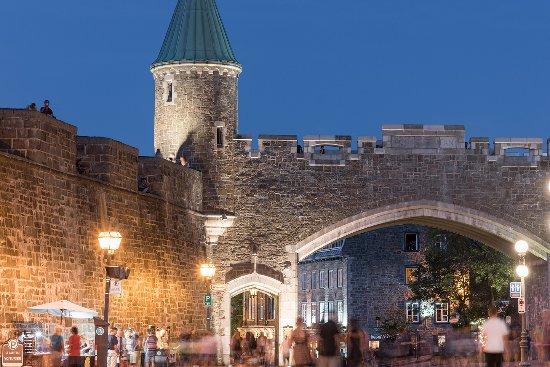 Quebec City, Canada: Saint-Jean gate in Old Québec