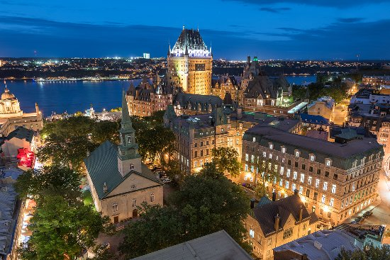 Quebec City, Canada: Château Frontenac and Old Québec by night