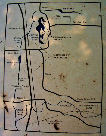 Crystal Springs Rhododendron Garden: Inset Map Of The Area