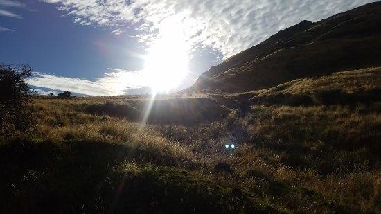 Ridgeline Adventures: Sun rising over the mountains.