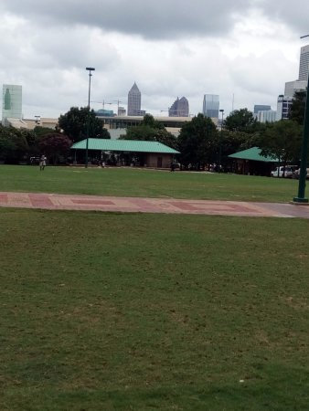 Centennial Olympic Park: View from inside