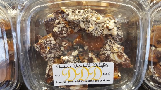 Sauk Rapids, มินนิโซตา: The best toffee you'll ever taste! We feature Dustin's Delectable Delights Toffee here!