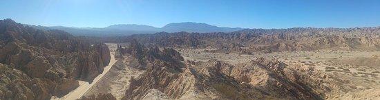 Quebrada de Las Flechas - Angastaco : Vista panorámica