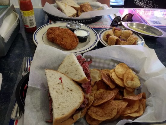 Potomac, MD: Pastrami Sandwiches, Latkes and Mini-Dogs in Blankets