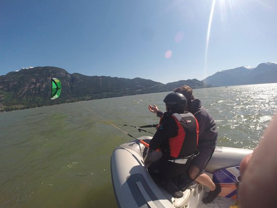 Squamish, Canada: Learn to fly a full size kite from a boat!