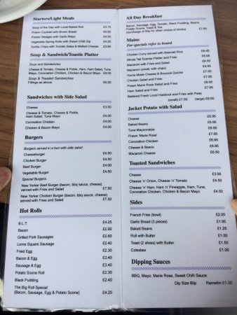 Cafe Bluebell : menu