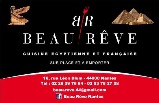 Restaurant Egyptien Beau Reve Carte De Visite