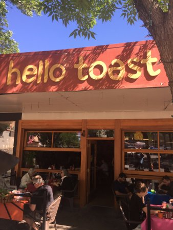 Hello Toast: front door